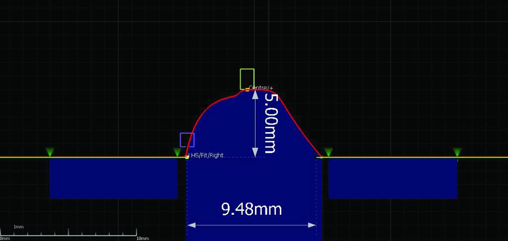 pomiar wymiarów spoiny czołowe