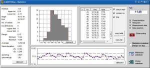 widok programu do analizy statystycznej danych