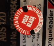 etykieta z datą wzorcowania